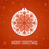 Christmas red background. — Vector de stock