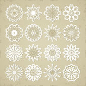 Christmas snowflakes - stickers. — Stock Vector