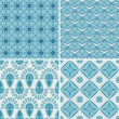 Set of four seamless pattern. — Stock Vector #37037955