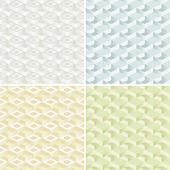 Conjunto de cuatro patrones sin fisuras. — Vector de stock