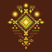 Aztec pattern. — Stock Vector