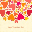 Valentine's Day background with hearts. — Stok Vektör #37713893