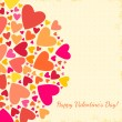Valentine's Day background with hearts. — Stok Vektör #37713921