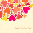Valentine's Day background with hearts. — Stok Vektör #37713971