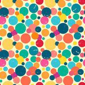 Seamless pattern with grunge dots. — Stockvektor