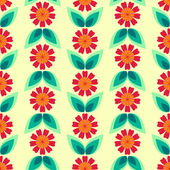 Seamless floral pattern with leaves and flowers. — Stock Vector