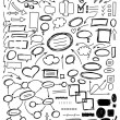 Set of hand drawn elements for design — Stock Vector #43830771