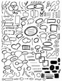 Set of hand drawn elements for design — Stock Vector