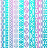 Tribal striped seamless pattern. — Stock Vector