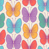 Modèle sans couture avec papillons stylisés. — Vecteur