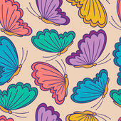 Seamless pattern with stylized butterflies. — Stock Vector