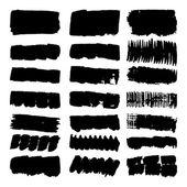 Grunge brush strokes. — Stock Vector