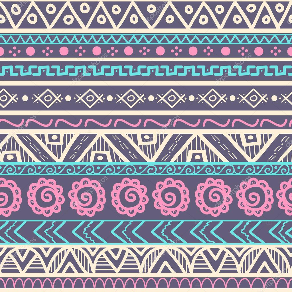 Tribal striped seamless pattern. — Stock Vector #43832795