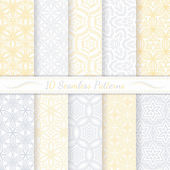 Set of ten seamless modern patterns. — Stock Vector