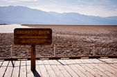 Badwater Basin sign — Stock Photo