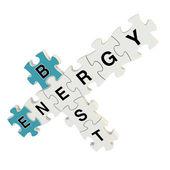 Puzzle 3d migliore di energia su sfondo bianco — Foto Stock