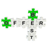 Best offer 3d puzzle on white background — Stock Photo
