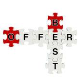 Best offer 3d puzzle on white background — ストック写真