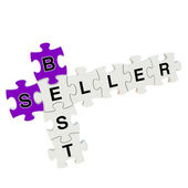 Best seller 3d puzzle on white background — Stock Photo