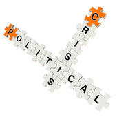 Political crisis 3d puzzle on white background — Stock Photo