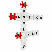 Fashion style 3d puzzle on white background — Stock Photo