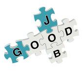 Good job 3d puzzle on white background — Stock Photo