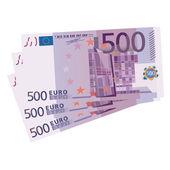 Vector drawing of a 3x 500 Euro bills — Stock Vector