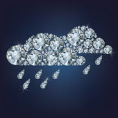 Clouds  made up a lot of diamonds — Stock Vector