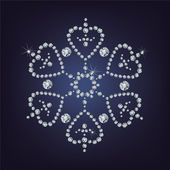 Snowflake made from diamonds  vector illustration — Stock Vector