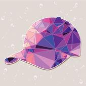 Retro baseball cap made of triangles — Stock Vector