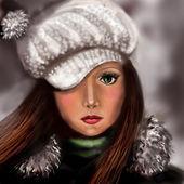 девушка зима — Стоковое фото