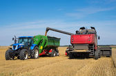 Tractor and combine — Stock Photo