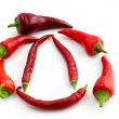 Red hot chili peppers — Stock Photo #34480031