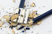 Blue broken pencil — Foto de Stock