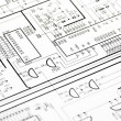 Detailed technical drawing — Stock Photo #51412681