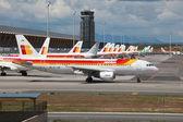Iberia Airbus A320 in Madrid — Stock Photo