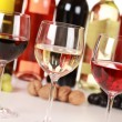 Stock Photo: Different wines