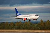SAS Scandinavian Airlines Boeing 737-500 — Stock Photo
