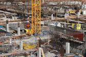 Huge construction site — Stock Photo