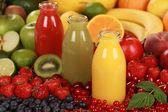 Fresh fruit juices — Stock Photo