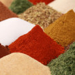 Spices and herbs on a bazaar — Stock Photo