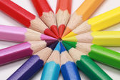 Color pencils forming a circle — Stock Photo