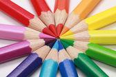 Lápices de colores formando un círculo — Foto de Stock