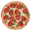 Stock Photo: Sliced Pepperoni Pizza