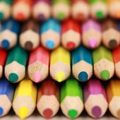 Colored pencils with copyspace — Stock Photo