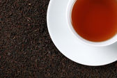 Black Tea with copy space — Stock Photo