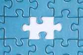 The missing piece in a puzzle — Stock Photo