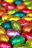 Easter eggs made of chocolate — Stock Photo