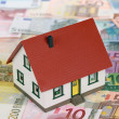 Stock Photo: Symbol for home financing (Euro)