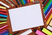 Leere notebook mit exemplar — Stockfoto